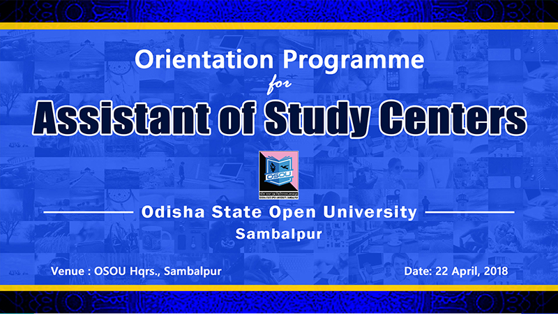 Orientation Programme for Assistants of Study Centres